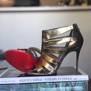 👸Warrior princess👸gold gladiator sandals Sz37